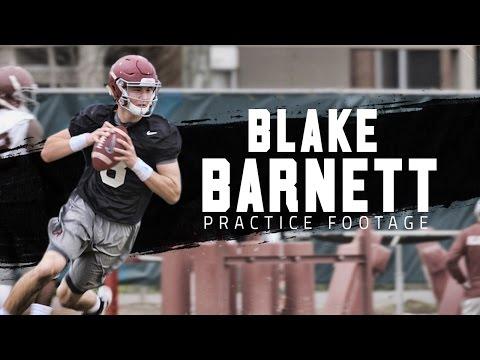 Watch Blake Barnett in Alabama's first spring practice of 2016