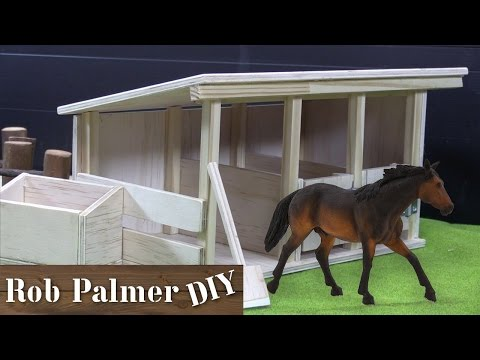 DIY Mini Wooden Horse Stable Toy | Rob Palmer DIY