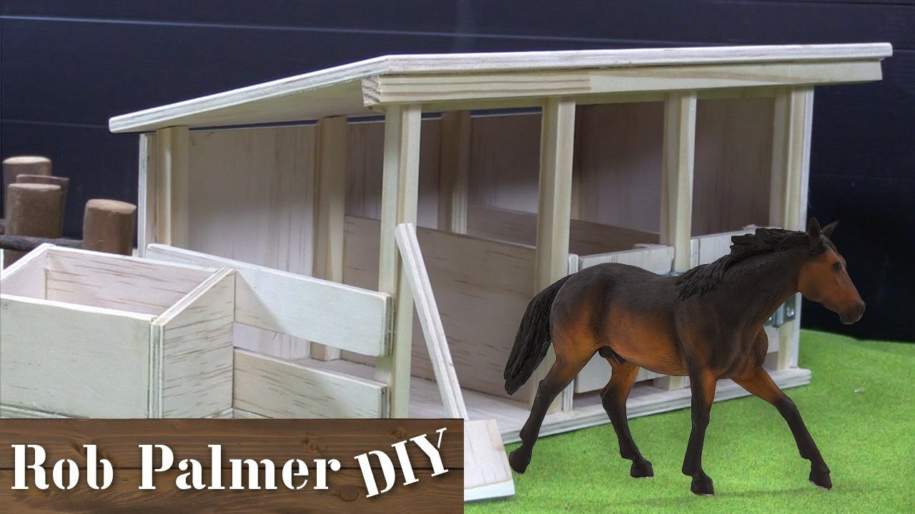 DIY Mini Wooden Horse Stable Toy | Rob Palmer DIY - YouTube
