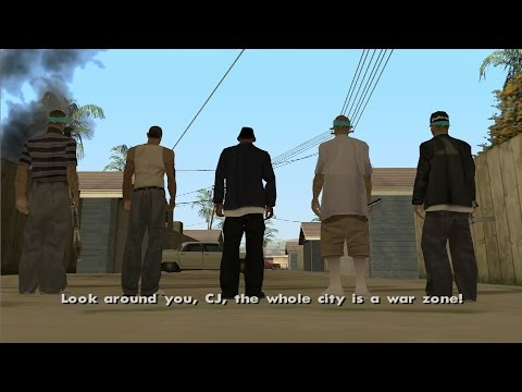 GTA San Andreas - Los Desperados - Riots Mission 2