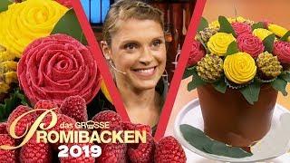 Pull Apart Cupcake Blumenstrauß auf Schokokuchen 2/2 | Aufgabe | Das große Promibacken 2019 | SAT.1