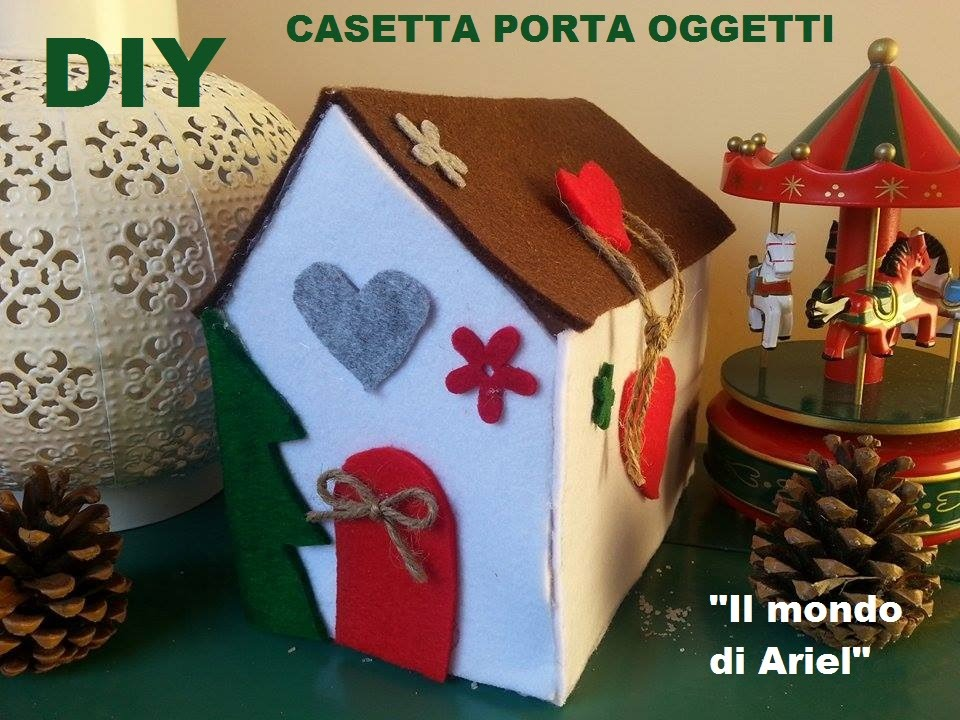 Super DIY CASETTA in feltro PORTA TUTTO,idea regalo fai da te! - YouTube NY61