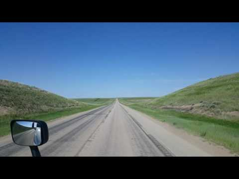 Rolling North on Wyoming Highway 387 and 59 in the town of Wright, Wyoming June 10, 2016