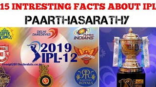 15 INTRESTING FACTS ABOUT IPL | TAMIL | PAARTHASARATHY| PS