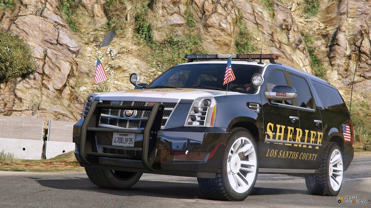 Gta 5 Pc Cadillac Escalade Police Car Mod 1 Youtube