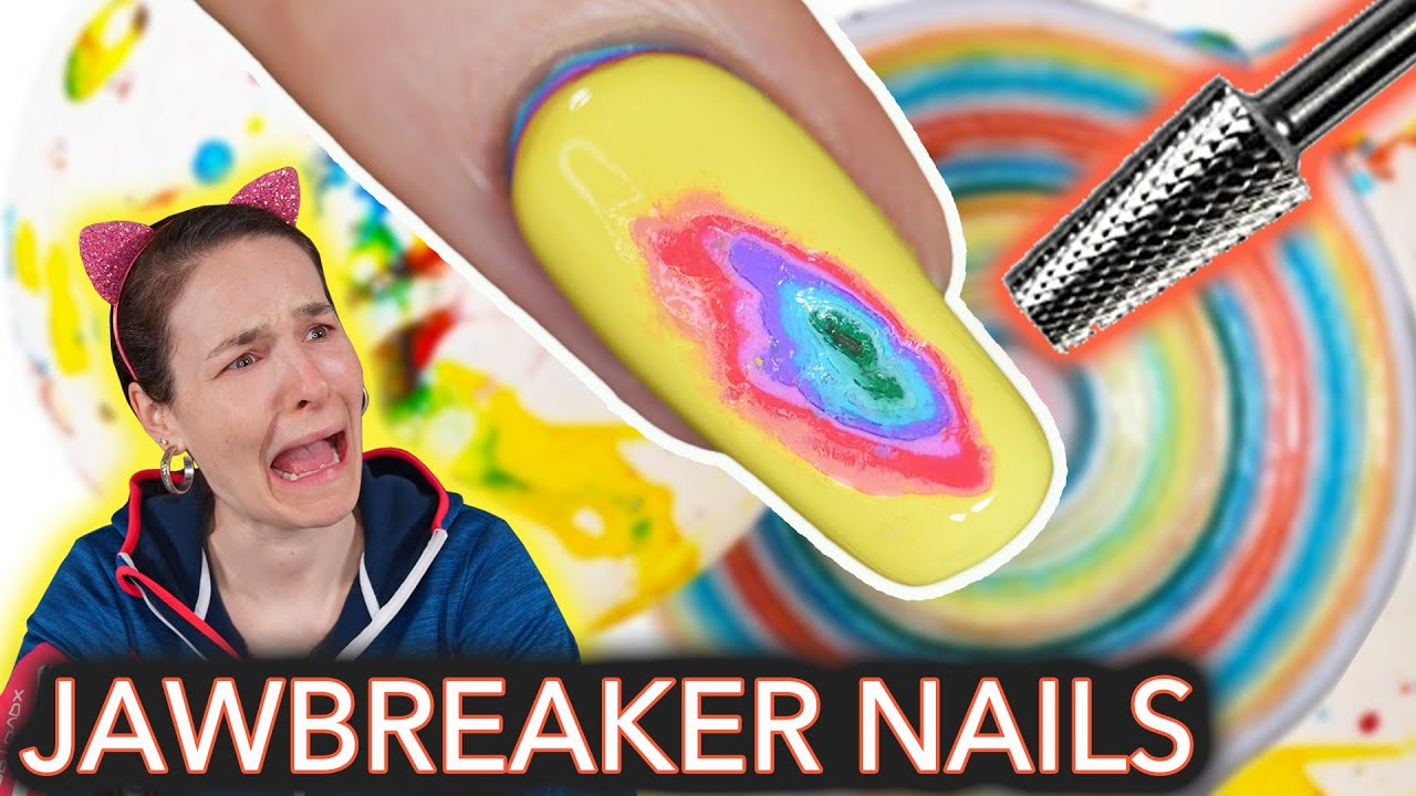 Jawbreaker Nails (I drilled my nail)