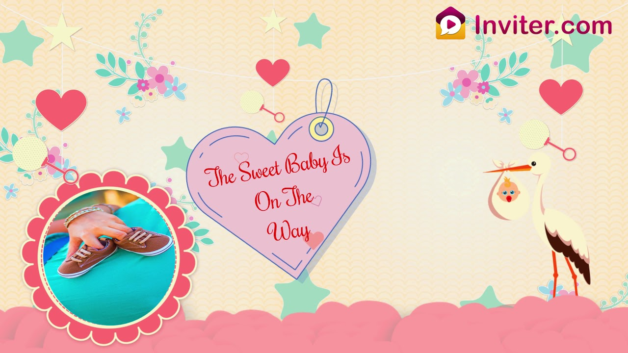 Baby Shower Invitation Animated Video Baby Shower Invitation Template