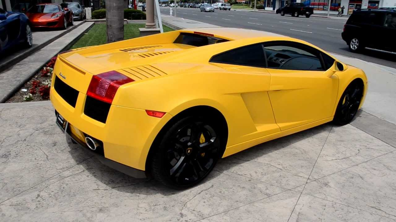 2005 Yellow Lamborghini Gallardo Coupe Lamborghini Newport Beach Youtube