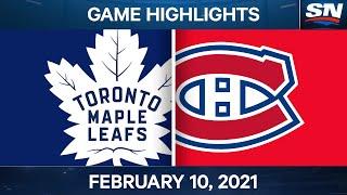 NHL Game Highlights   Maple Leafs vs. Canadiens – Feb. 10, 2021