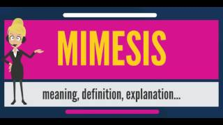 What is MIMESIS? What does MIMESIS mean? MIMESIS meaning, definition, explanation & pronunciation