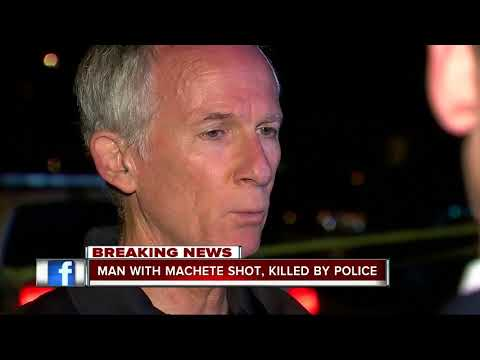Man with machete shot , killed by police