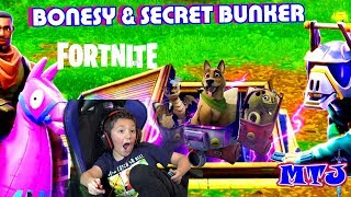 🍩 FORTNITE LIVE Bonesy the Dog Secret Bunker Fans KID GAMER MinetheJ at Wailing Woods Squads w/Fans