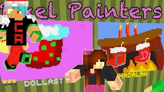 Minecraft / Christmas Pixel Painters / Chad Alan VS Dollastic