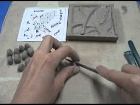 Making a clay tile demo youtube for How to make ceramic painting