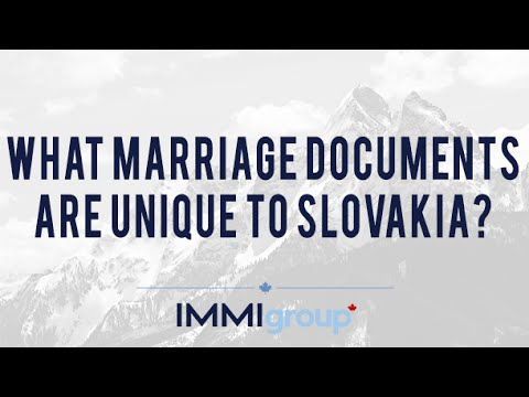 What Marriage Documents are Unique to Slovakia?