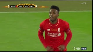 Daniel Sturridge Goal - Liverpool vs Sevilla 1-3 2016 - Europa League