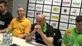 Tlačová konferencia po 2. finálovom zápase: BK Inter Incheba Bratislava - BC Prievidza