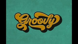 Create a retro typography with Groovy Font in Photoshop