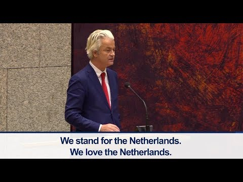 Geert Wilders concluding remarks during parliamentary debate with new Dutch government