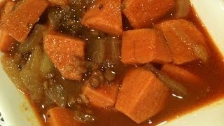Sweet Potato Stew ~ Chilakada Dumpa Pulusu ~ South Indian Recipes