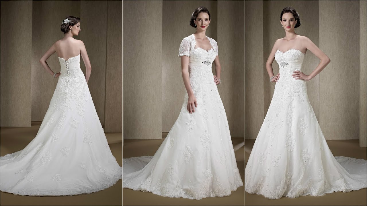 How To Embellish Simple Wedding Dresses: Simple Wedding Dresses