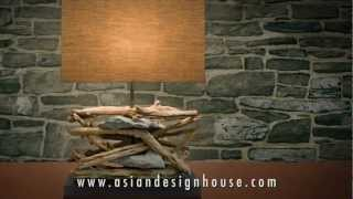 O'thentique By Asian Design House Driftwood Lighting And Wooden Lamps Collections
