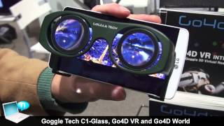 Goggle Tech C1 Glass, Go4D VR and Go4D World