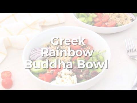 Noshed: Greek Rainbow Buddha Bowl
