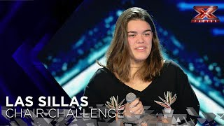 'Los Miserables' de Inés, la doble de Laura Pausini, no llena a Risto | Sillas 1 | Factor X 2018
