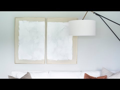 DIY Abstract Diptych Art  |  Room for Tuesday