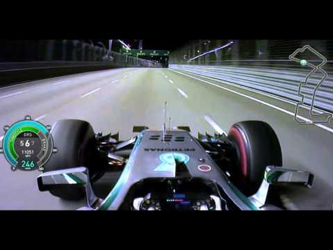 F1 2014 Singapore - Lewis Hamilton Onboard Pole Lap