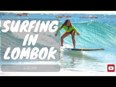FIRST TIME SURFING - LOMBOK KUTA - MAVIC DRONE - VLOG_029