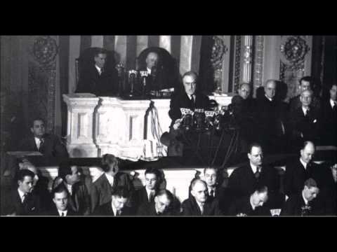 """Franklin D Roosevelt - Dec. 8, 1941 """"Day of Infamy"""" Speech (Full Speech)"""
