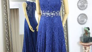 네이비 레이스 투피스 룩 무대 연주 이브닝 드레스 판매…