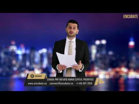 Immigration to Canada - Ontario PNP Human Capital Priorities - Episode 53