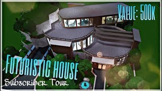 500K Futuristic House Judge Tour // Welcome to Bloxburg (ROBLOX)