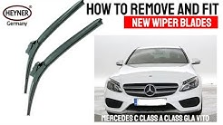 How to remove and fit wiper blades Mercedes C class E class A class 2015-onwards TOP LOCK M