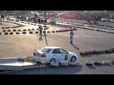 Tamer Bashat  EVO V @ Egypt AutoCross 2010 Round 1 @ Cairo International Stadium [HD].