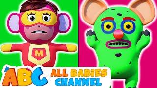 Head Shoulders Knees & Toes   MONSTER Vs SUPERHEROES   Nursery Rhymes by All Babies Channel