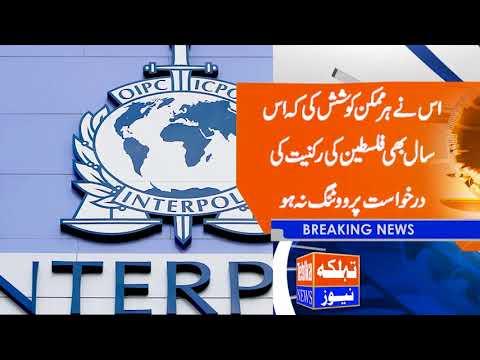 International Police Organization - Interpol declared Palestine as a separate state