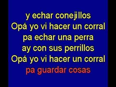 Opa Yo Viace Un Corral -  El Koala -  karaoke   Tony Ginzo
