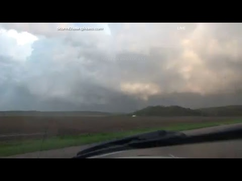 Storm Chasing Live - Team Haxby Nebraska & SW Iowa in Tornado Watch 148 - 4/19/2017