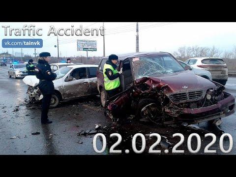 Подборка аварии ДТП на видеорегистратор за 02.02.2020 год