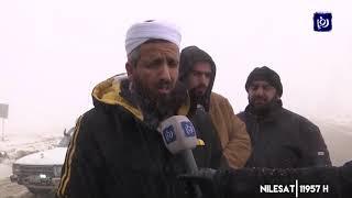 ثلوج في منطقتي القادسية والرشادية بمحافظة الطفيلة (24/1/2020)