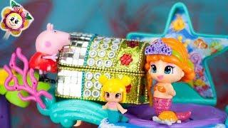 PEPPA PIG E PINYPON: Che sorpresa c'è nel forziere delle piccole sirenette? Regali e giocattoli!