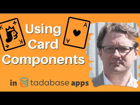 Using Card Components in a Tadabase App