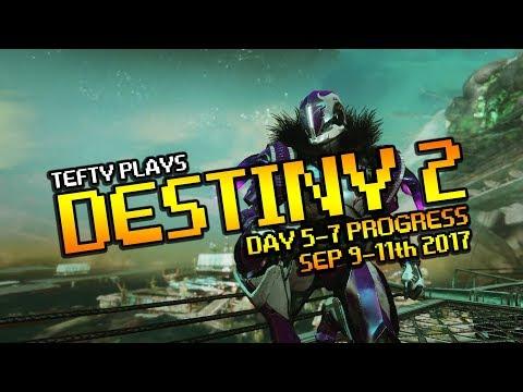 Destiny 2 - Day 5-7 Warlock Progress plus RESET! Sep 12th 2017