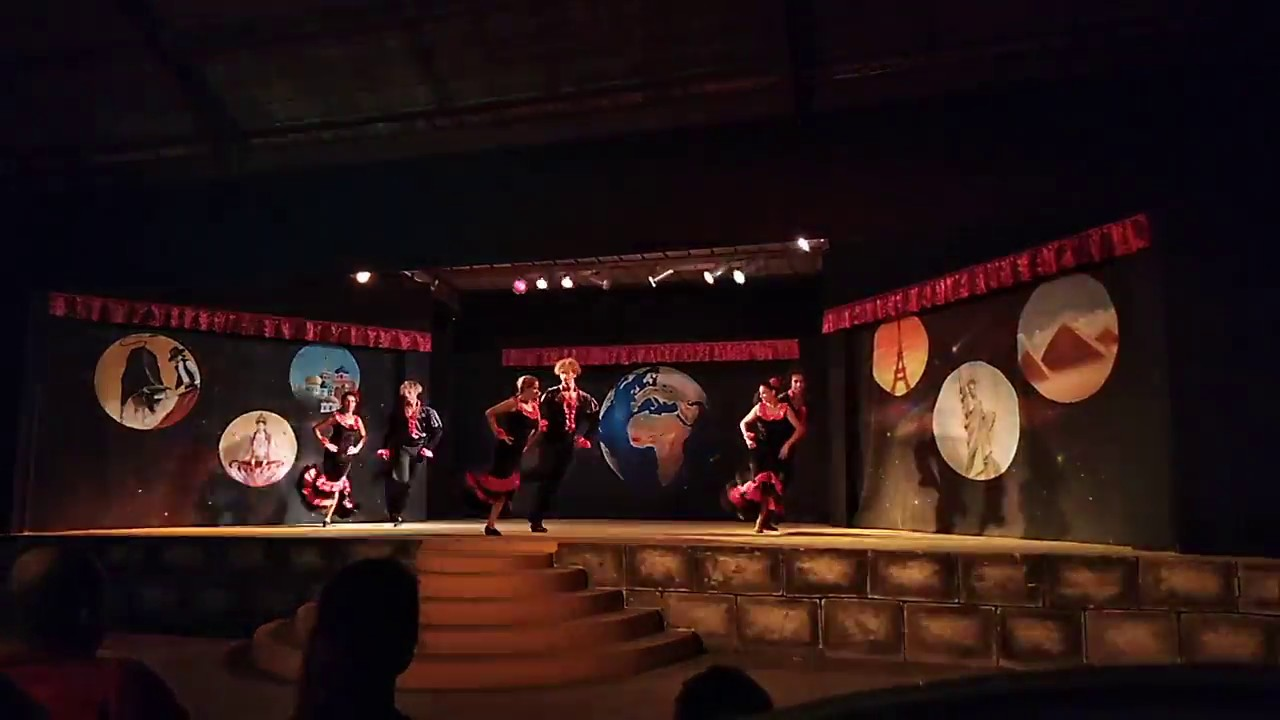 Caribbean World Borj Cedria Tunisia Тунис 2018 итальянский танец