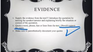 Short answer: claim, evidence, reasoning