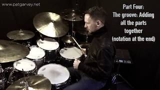 One Minute Lesson 2: Cool groove between hats, floor tom, kick & snare